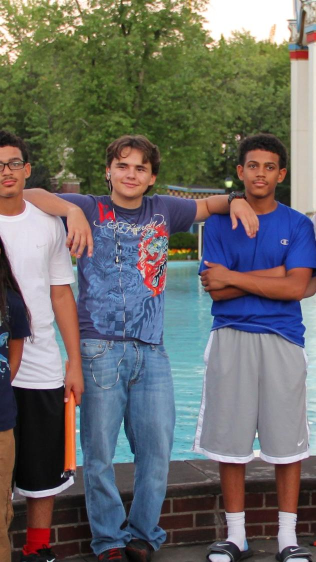 Prince Jackson with his cousins James at Six Flags Great America in illinois NEW August 27th 2012