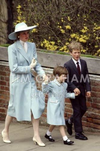 Princess Diana and her Sons 바탕화면 containing a business suit entitled Princess Diana, Prince William, and Peter Phillips