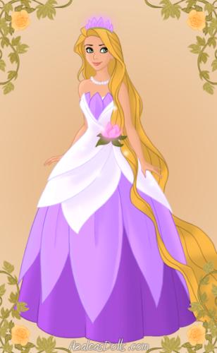 Rapunzel as Tiana