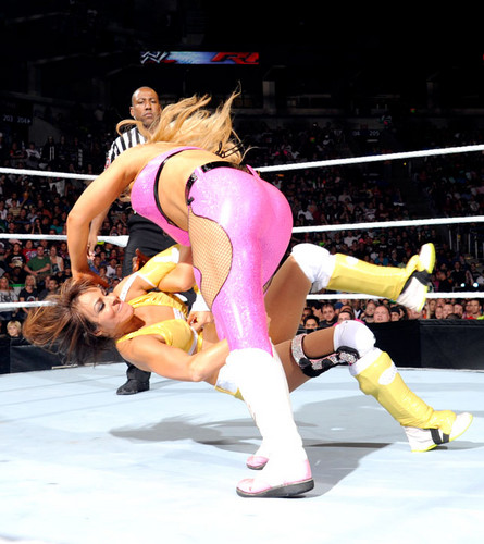 WWE LAYLA پیپر وال probably containing a leotard and tights called Raw Digitals 8/27/12