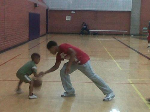 Roc yesterday playing باسکٹ, باسکٹ بال ….aww :D