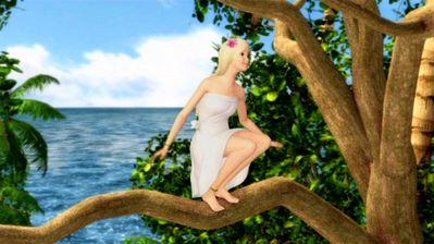 Rosella climbing trees