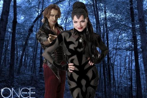 Rumpelstiltskin and Regina in a Forest