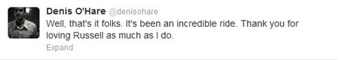 SPOILER! Denis O'Hare (Russell Edgington) Tweet about True Blood Season 5 Finale
