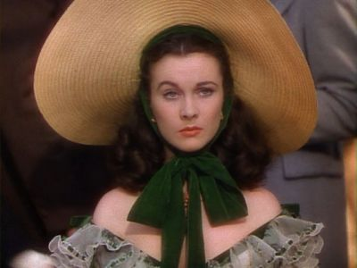 Gone with the Wind wallpaper with a sombrero, a snap brim hat, and a boater called Scarlett O'Hara