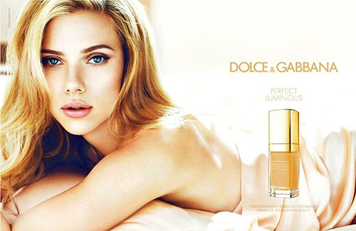 Scarlett in the new Dolce & Gabbana ad