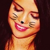Selena Gomez foto containing a portrait called Selena Cat ikon-ikon