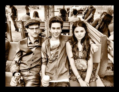 Selena Gomez, Nat Wolff and Nate Hartley
