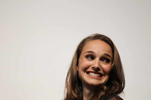 Natalie Portman wallpaper with a portrait called Speaking at the Nevada Women Vote 2012 Summit at the Fifth Street School Auditorium, Las Vegas (Augu