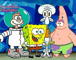 Spongebob Squarepants wallpaper containing anime called Spongebob, Patrick, Sandy, and SquidWard