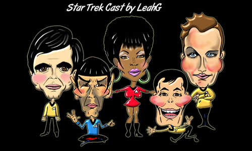 Star Trek cartoons by LeahG
