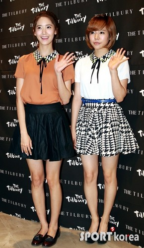 Sunny and Yoona @ The Tilbury Launching Event