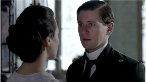 Lady Sybil Crawley 바탕화면 possibly with a business suit and a portrait called Sybil and Branson