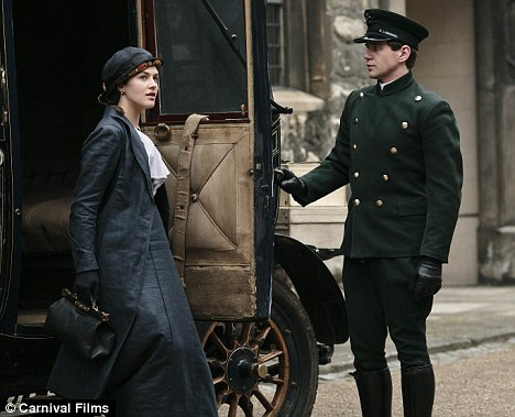 Lady Sybil Crawley wallpaper possibly with a chuck wagon titled Sybil and Branson