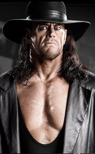 Undertaker achtergrond with a fedora called Taker