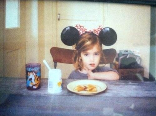 Emma Watson achtergrond possibly containing a avondeten, diner tafel, tabel and a sign entitled The Cutest Baby Ever = Emma Watson