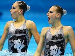 The Synchronized Swimming Duo From The 2012 Summer Olympics Paying Tribute To Michael Jackson