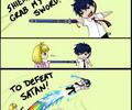 To defeat satan!