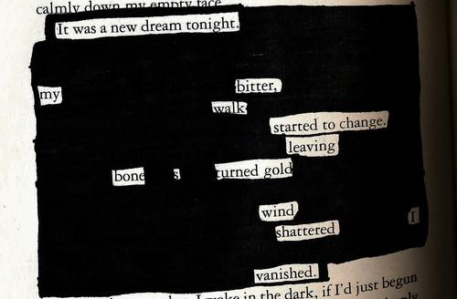 Twilight blackout poem
