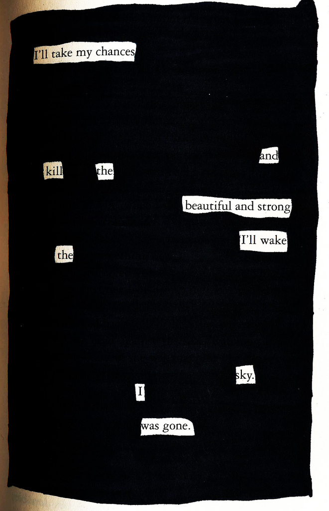 Twilight blackout poem
