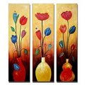 Vasts and Flowers Oil Painting - Set of 3 - Free Shipping