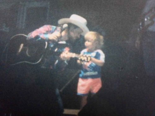 Very young Chord with his father at  a concert of his