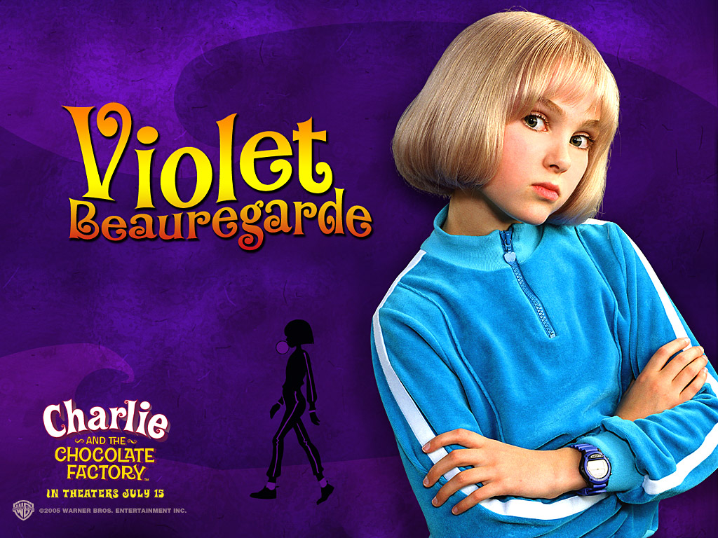 resistance is futile charlie and the chocolate factory by roald dahl violet beauregarde was modernized in the 2005 version she was still the over competitive gum chewing brat written by dahl but she was the daughter of a