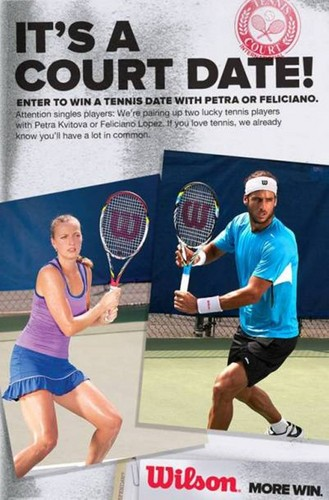 WIN A DATE WITH FELICIANO LOPEZ AND PETRA KVITOVA! - tennis Photo
