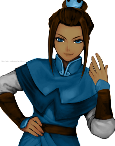 Avatar The Last Airbender karatasi la kupamba ukuta possibly containing an outerwear, a blouse, and a kofia called Water Tribe Azula