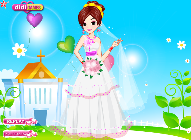 dress up bride games
