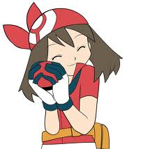 Who's May hugging in that Pokeball?