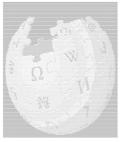 Wikipedia Logo in ASCII