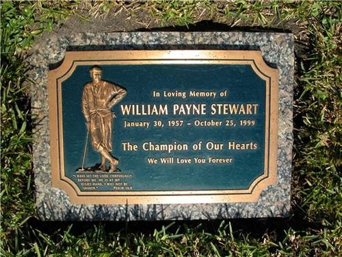 William Payne Stewart (January 30, 1957 – October 25, 1999)