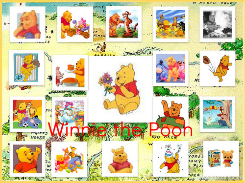 Winnie the Pooh پیپر وال with a dam entitled Winnie the Pooh Collage