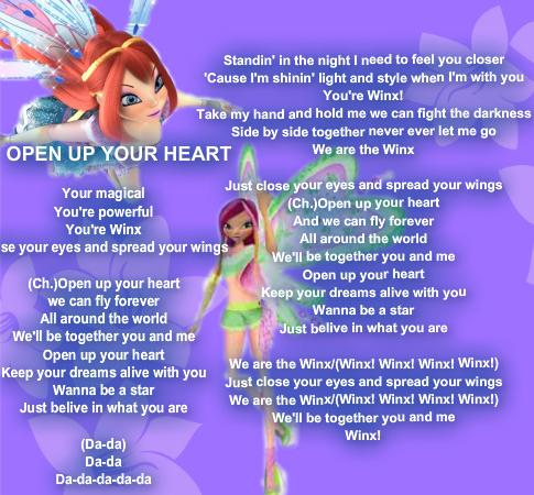 Winx Club - Open Up Your сердце
