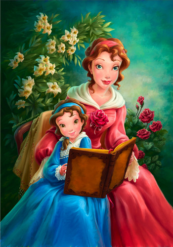 Young Belle and Mother Portrait