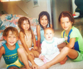 Young Chord with his brother and sisters