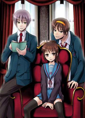 Yuuki, Haruki and Kyonko