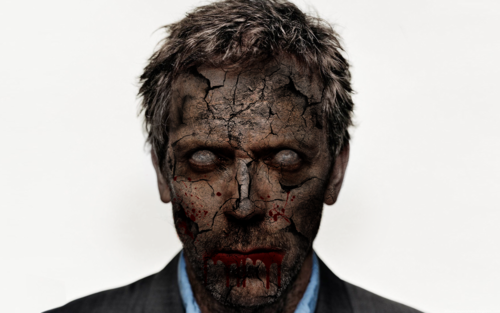 Hugh Laurie wallpaper containing a business suit entitled Zombie House