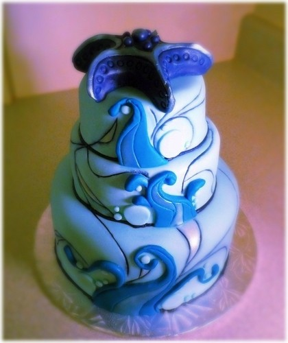 blue ocean cake