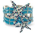 blue star fish bracelet - blue photo