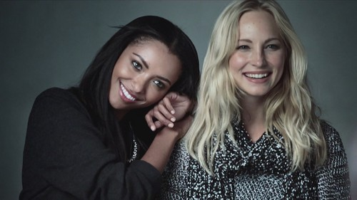 Candice and Kat BTS of their Express Collections shoot- Fall/Winter 2012 advertisements.
