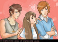 carrtoon picture of GIRO,ARRIANE, and JOSEPH. - it-started-with-a-kiss fan art
