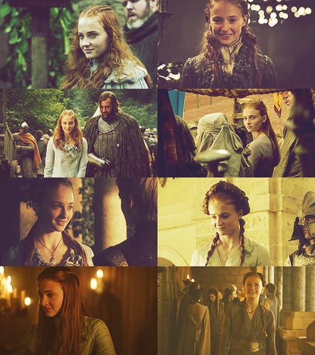 The evolution of Sansa Stark's smiles