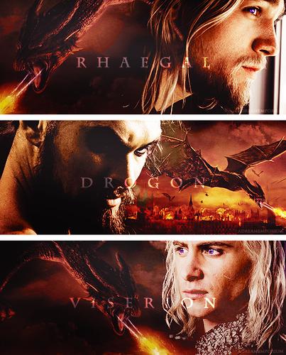 Drogon, Rhaegal & Viserion