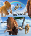 ice age 4 rainbow scene