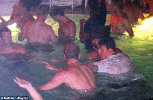 in a Las Vegas swimming pool