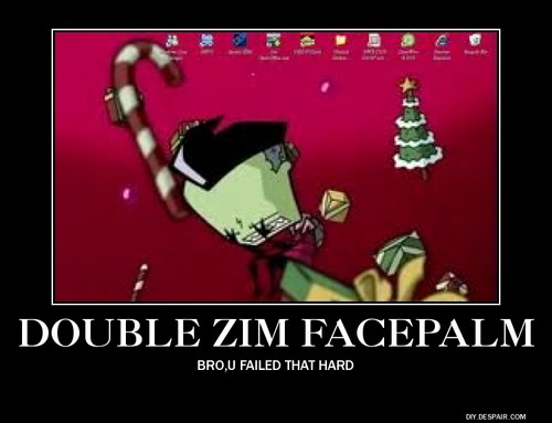 Girsmurf22 Wallpaper With Anime Entitled Invader Zim Demotivational Posters