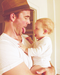 james with his kid