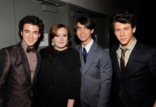 jonas brothers with adele